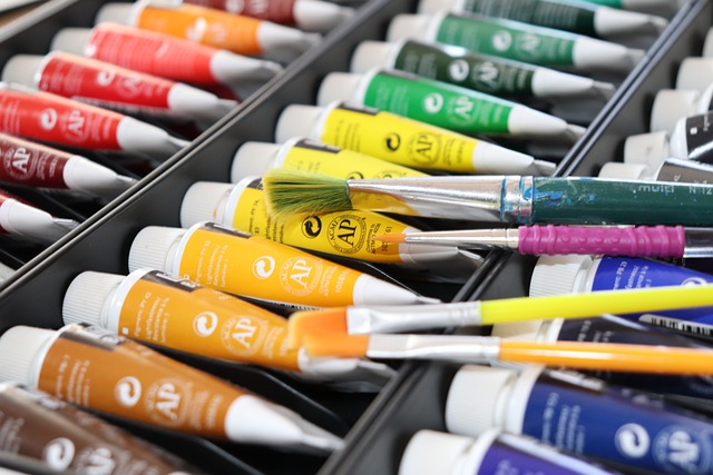 Color Acrylic Paint Colorful Brush