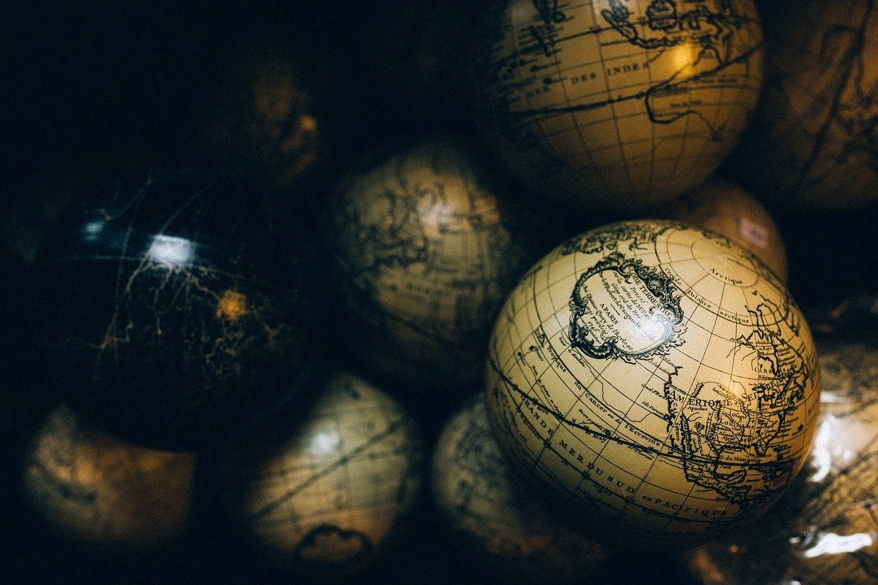 Globes Spheres Maps Ball World