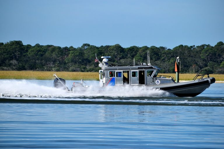 Homeland Security Boat Border Patrol
